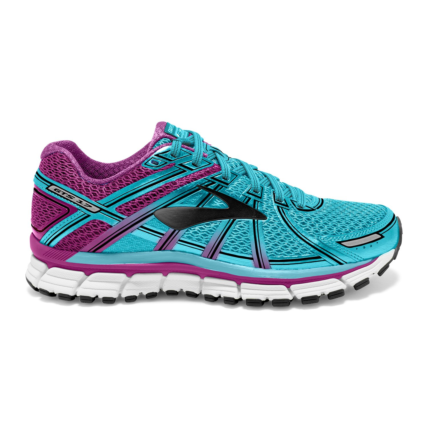 0b4b42fa7379b Brooks Women s Adrenaline GTS 17 Iceland Blue Hollyhock Black Athletic Shoe   Amazon.in  Shoes   Handbags