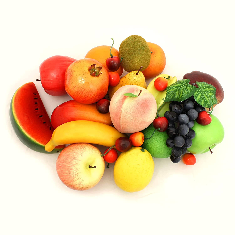 ALEKO AFA1 Decorative Realistic Artificial Fruits Assortment   Package Of  32 Fruits