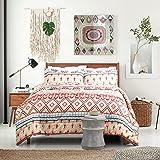 "Boho Design Full/Queen Size(88""x88"") Comforter Set Down Alternative 3 Pieces ( 1 Comforter + 2 Pillowcases) by Bedsure"
