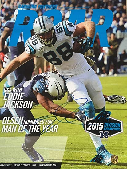25ea22ac Greg Olsen Signed Autographed Carolina Panthers Roar Magazine No Label Rare  - Autographed NFL Magazines