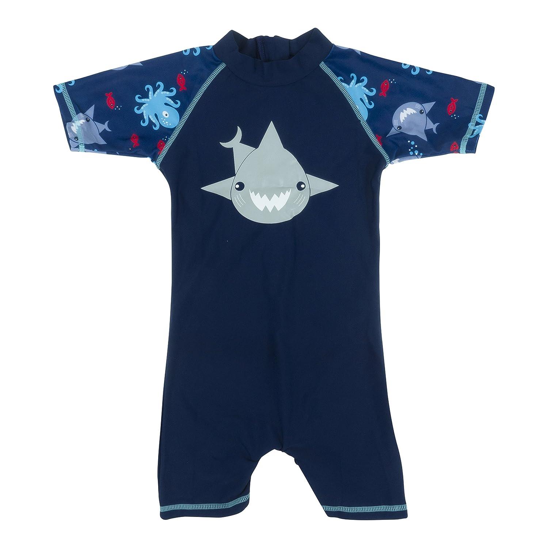 Baby Banz Shorty di Natación Termico ANTI-UV Manga Corta Niño - Niña Suit/B16/SR/PAP