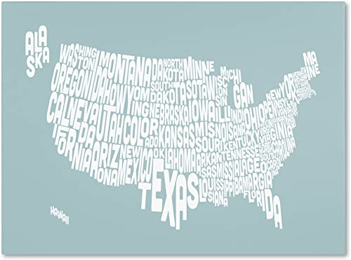 Duck Egg-USA States Text Map