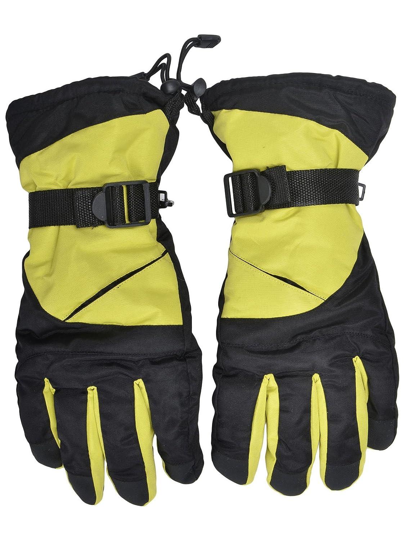 Simplicity Men's Winter Ski/Snowboarding Gloves with Elastic Wrist Cuffs 3578_Blue Black 88-B13090009-07