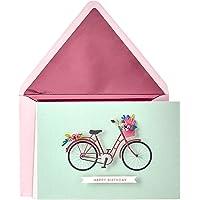 Hallmark Signature Birthday Card (Bicycle with Flowers)