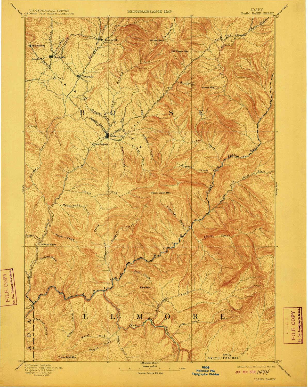 Amazon.com : YellowMaps Idaho Basin ID topo map, 1:125000 ...