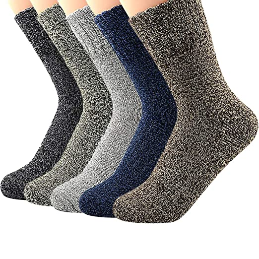 d47a6fb8b54 Womens Winter Wool Duck Boots Comfortable Socks Thermal Thick Warm Cute Knit  Vintage Style Casual Cotton