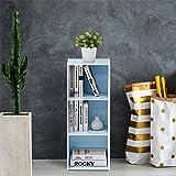 Furinno 3-Tier Open Shelf Bookcase, White/Light