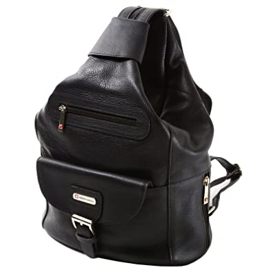 Amazon.com: Womens Alpine Swiss Genuine Leather Backpack Purse ...