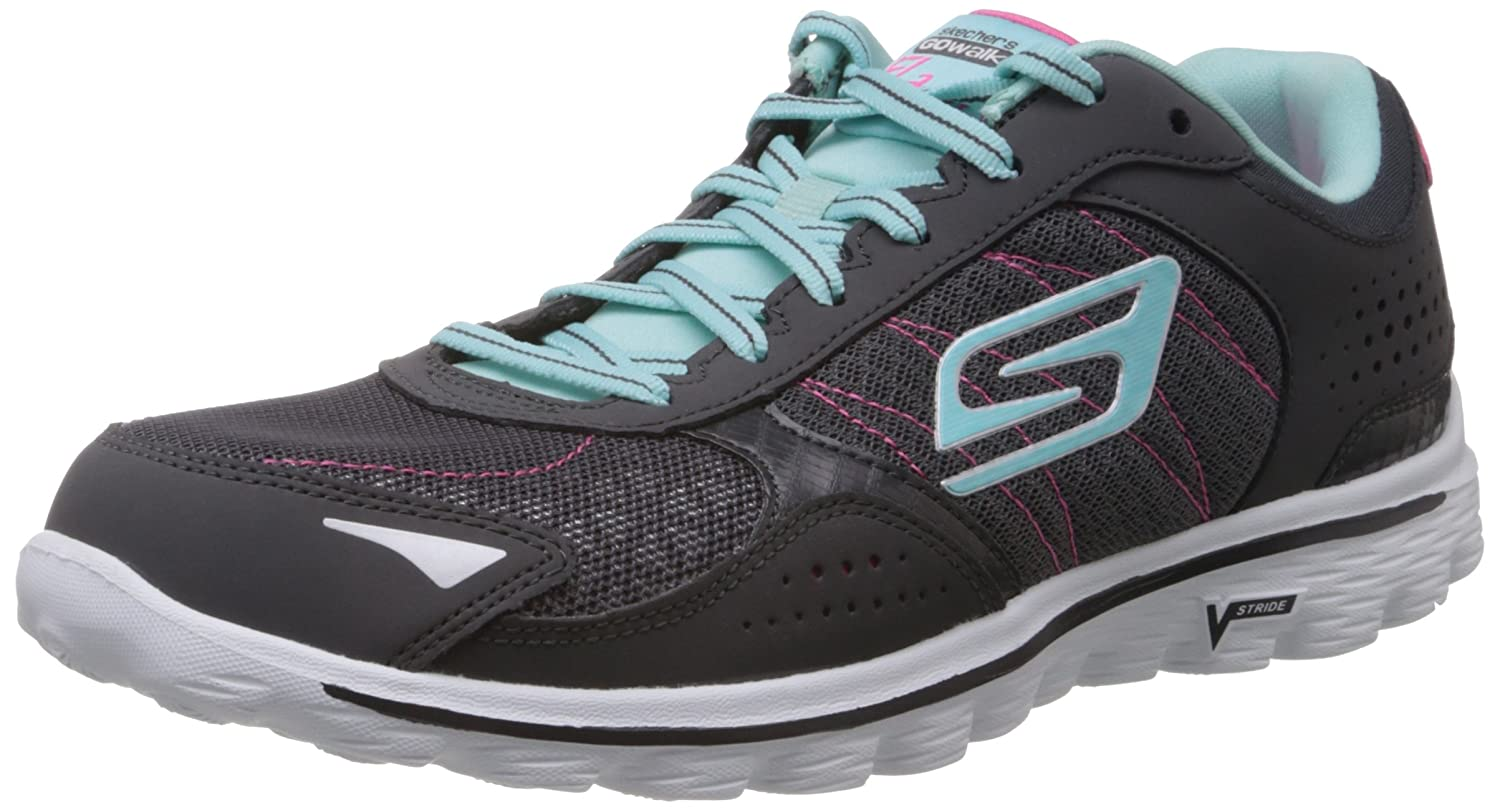 Skechers GO Walk 2 Flash Damen Laufschuhe  35 EU|Grau (Ccbl)