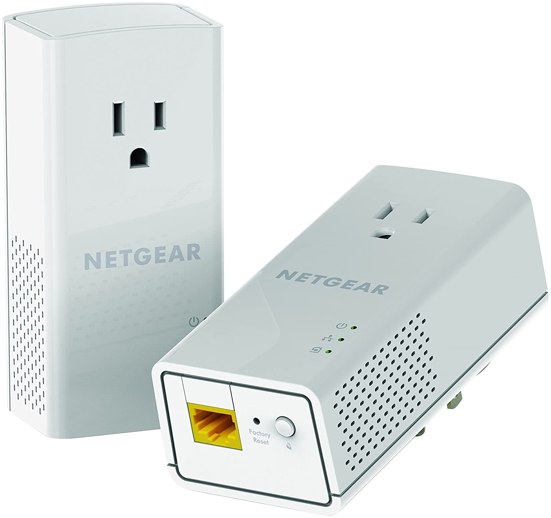 Amazon Netgear Powerline 1200 Mbps 1 Gigabit Port With Pass