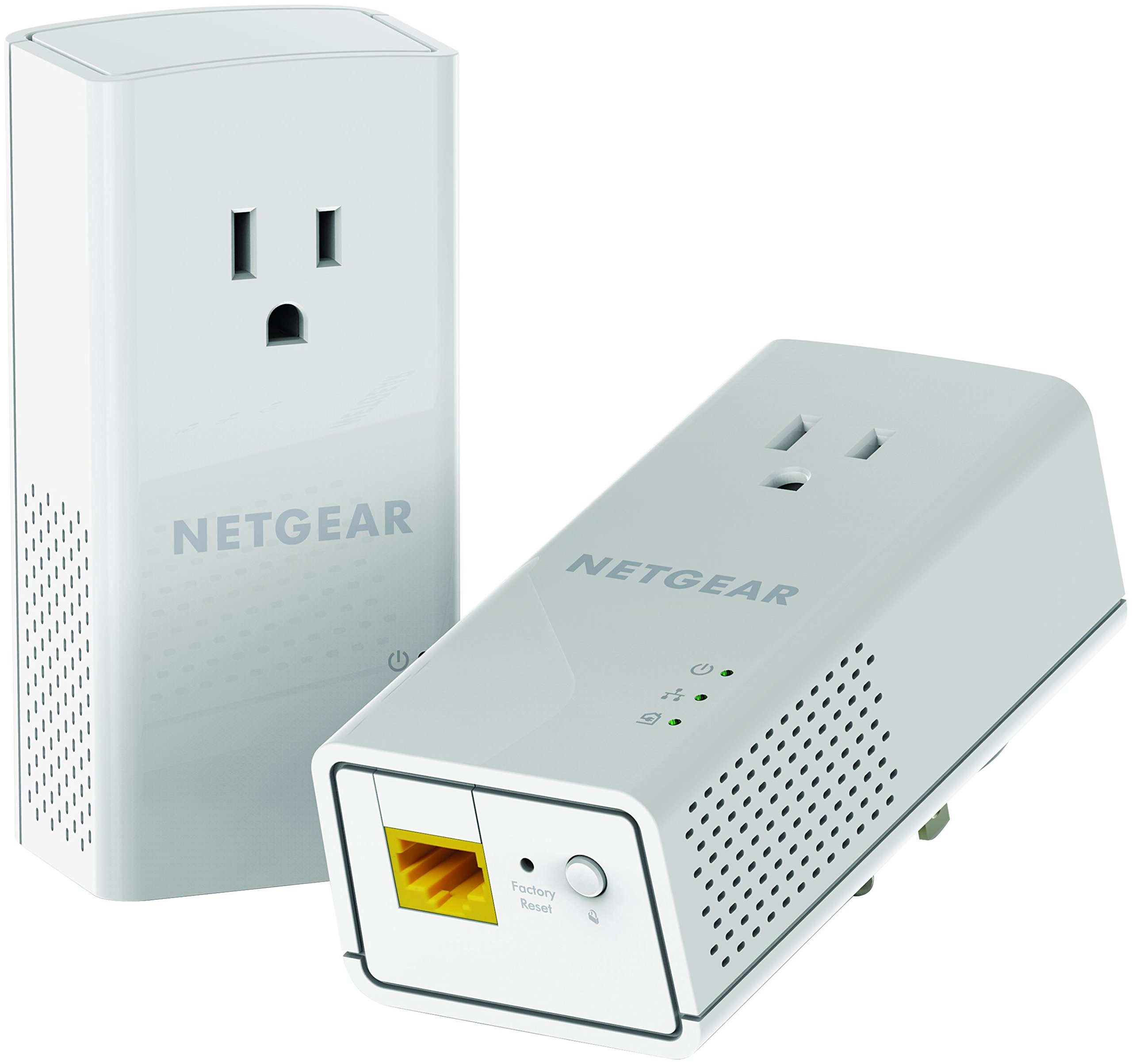 NETGEAR PowerLINE 1200 Mbps, 1 Gigabit Port with Pass-Through, Extra Outlet (PLP1200-100PAS) by NETGEAR
