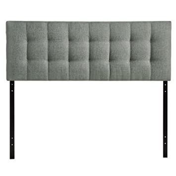 Modway Lily Upholstered Tufted Fabric Headboard Queen Size In Gray Awesome Ideas