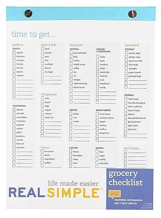basic grocery checklist