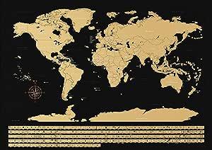 NIMAXI - Mapamundi para rascar con Banderas | Mapa Mundial de ...