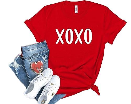 Girls valentine shirt xoxo hug and kisses