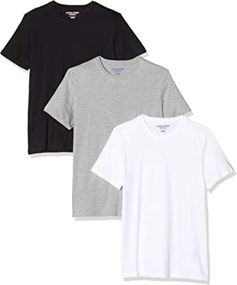 JACK & JONES Jorbasic SS Camiseta (Pack de 3) para Hombre: Amazon ...