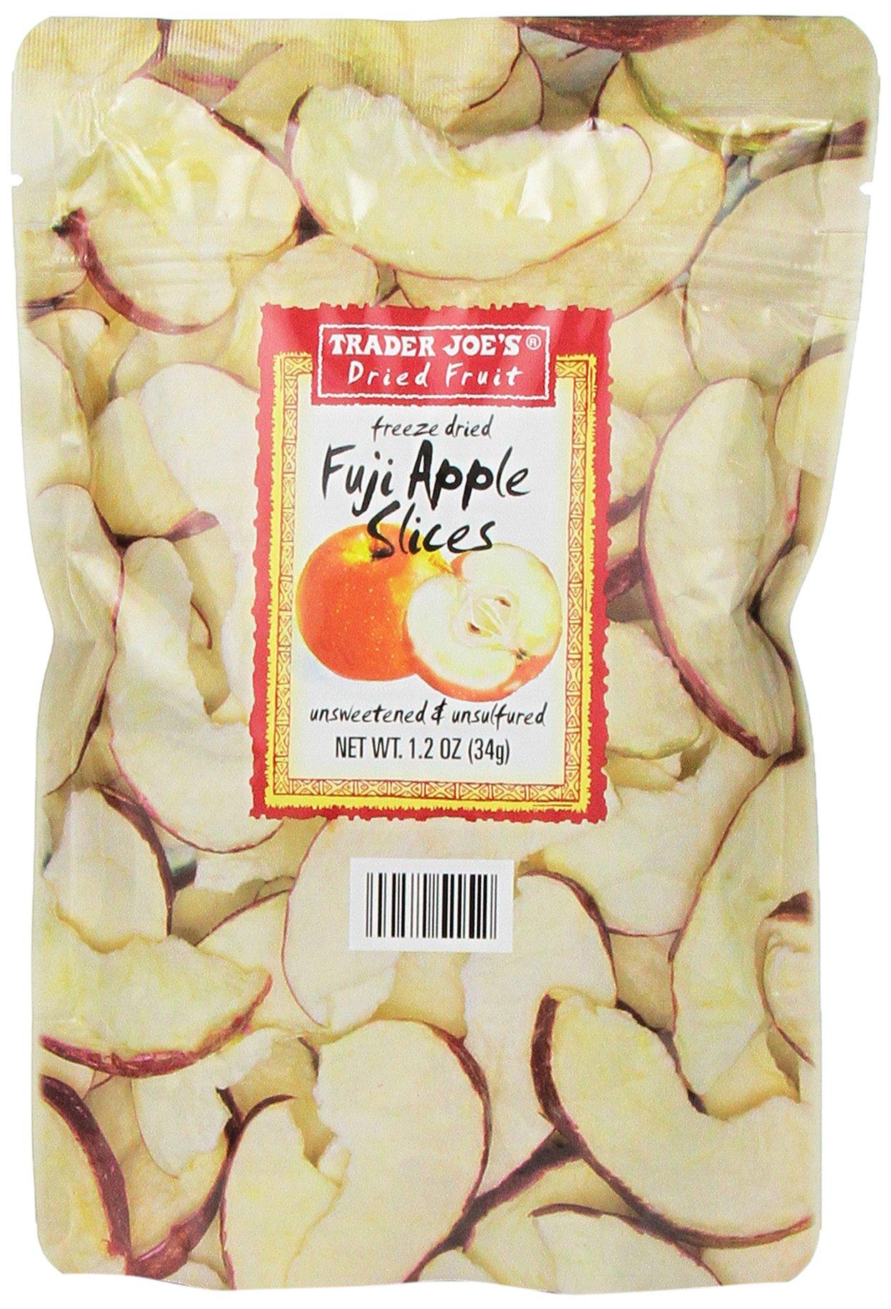 3 Pack Trader Joe's Freeze Dried Fuji Apple Slices 1.2oz