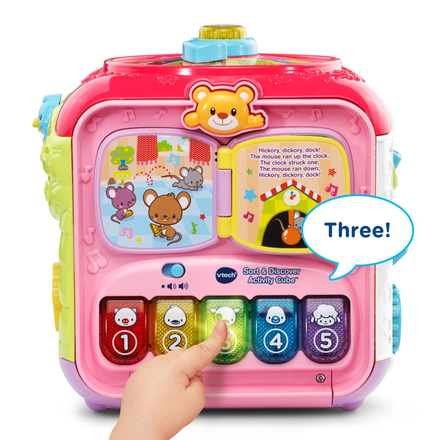 Amazon.com: VTech Sort and Discover Activity Cube, Pink: Toys & Games