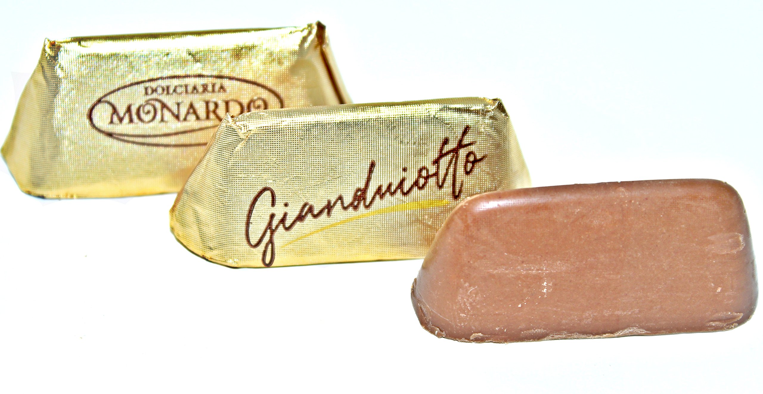 Monardo, Italian Gold Gianduiotto Smooth Blend of Milk Chocolate w/ Rst Hazelnut Butter (Gianduia) (50 pcs) by Monardo