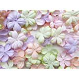 100 pcs Patch Flowers 30x30mm Mulberry Paper scrapbooking wedding doll house supplies card