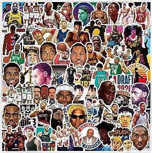 NB_A Stickers 100pcs Vinyl Waterproof Logo Basketball Stickers for Boy Adult Teens Laptop Water Bottle Hydroflask Phone
