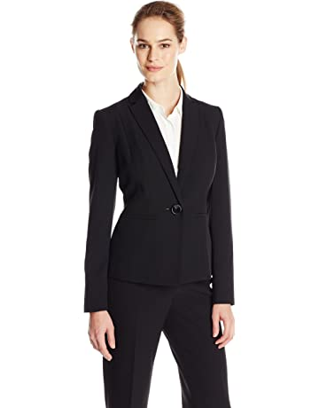 ab2f7e1d2b1 Kasper Women's Stretch Crepe One Button Jacket