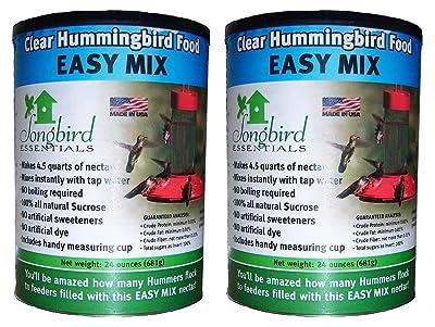 (2 Pack) Songbird Essentials SE629 Clear Hummingbird Nectar