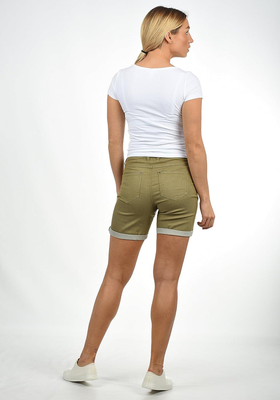 3aa3d3fab152 Desires Lila Pantalón Tejano Vaquero Corto Shorts para Mujer Elástico