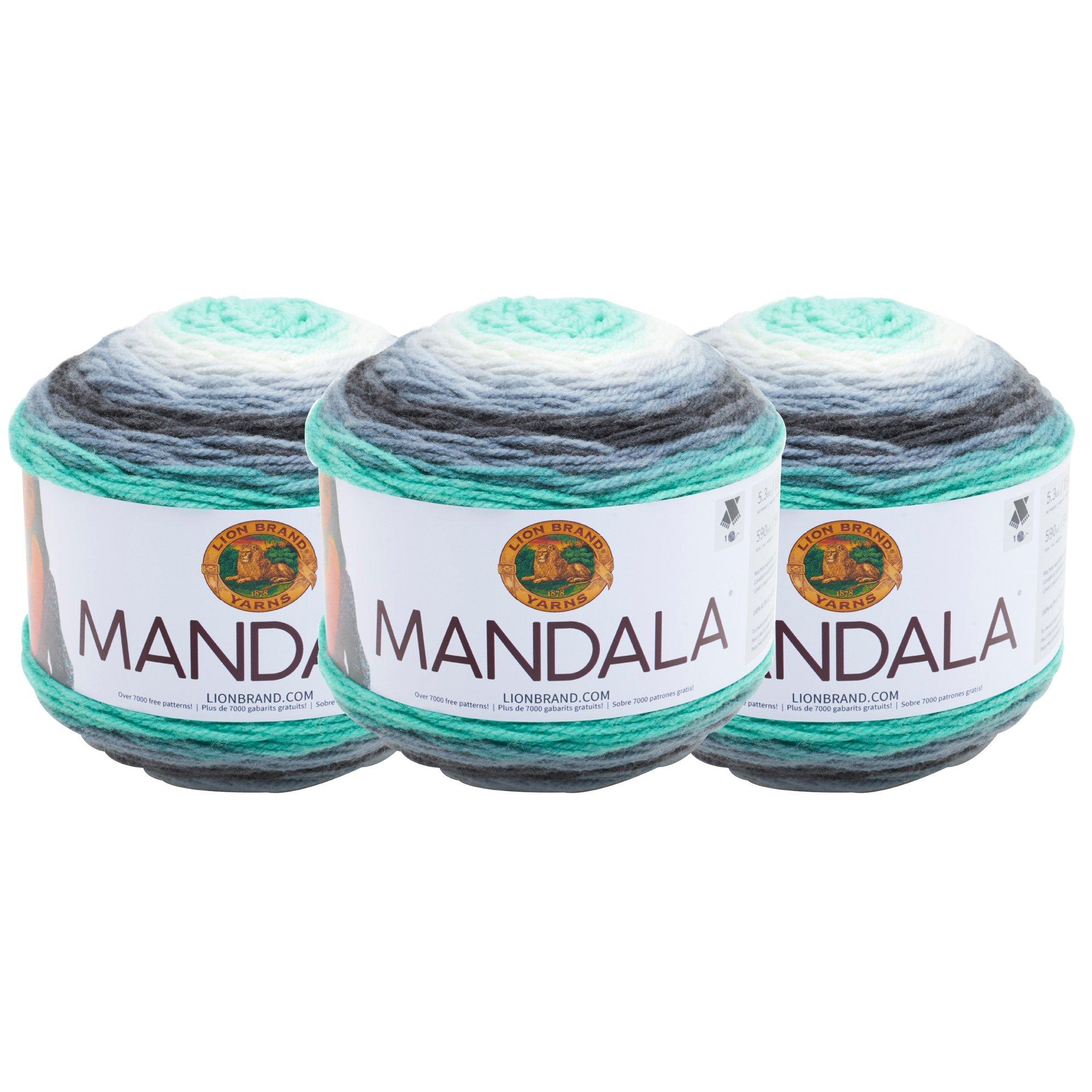(3 Pack) Lion Brand Yarn 525-217 Mandala Yarn, Genie