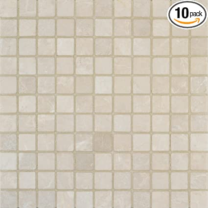 Arizona Tile 12 By 12 Inch Mosaic Made From 1 By 1 Inch Tumbled