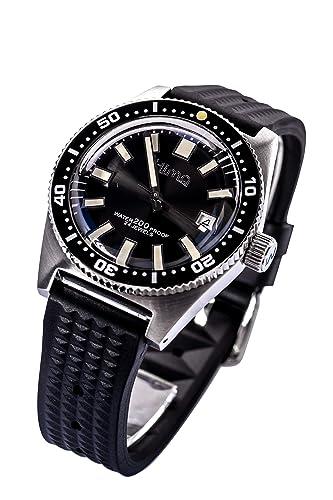 Sharkey - Reloj de buceo automático de acero inoxidable para hombre, 62 mm, bisel totalmente lumbado: Amazon.es: Relojes