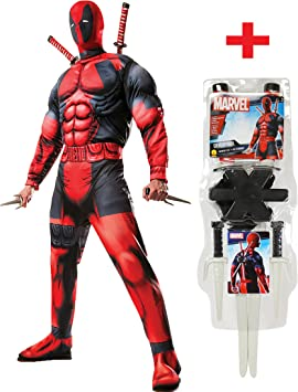 Rubies - Disfraz de Deadpool para hombre, con kit de armas: Amazon ...
