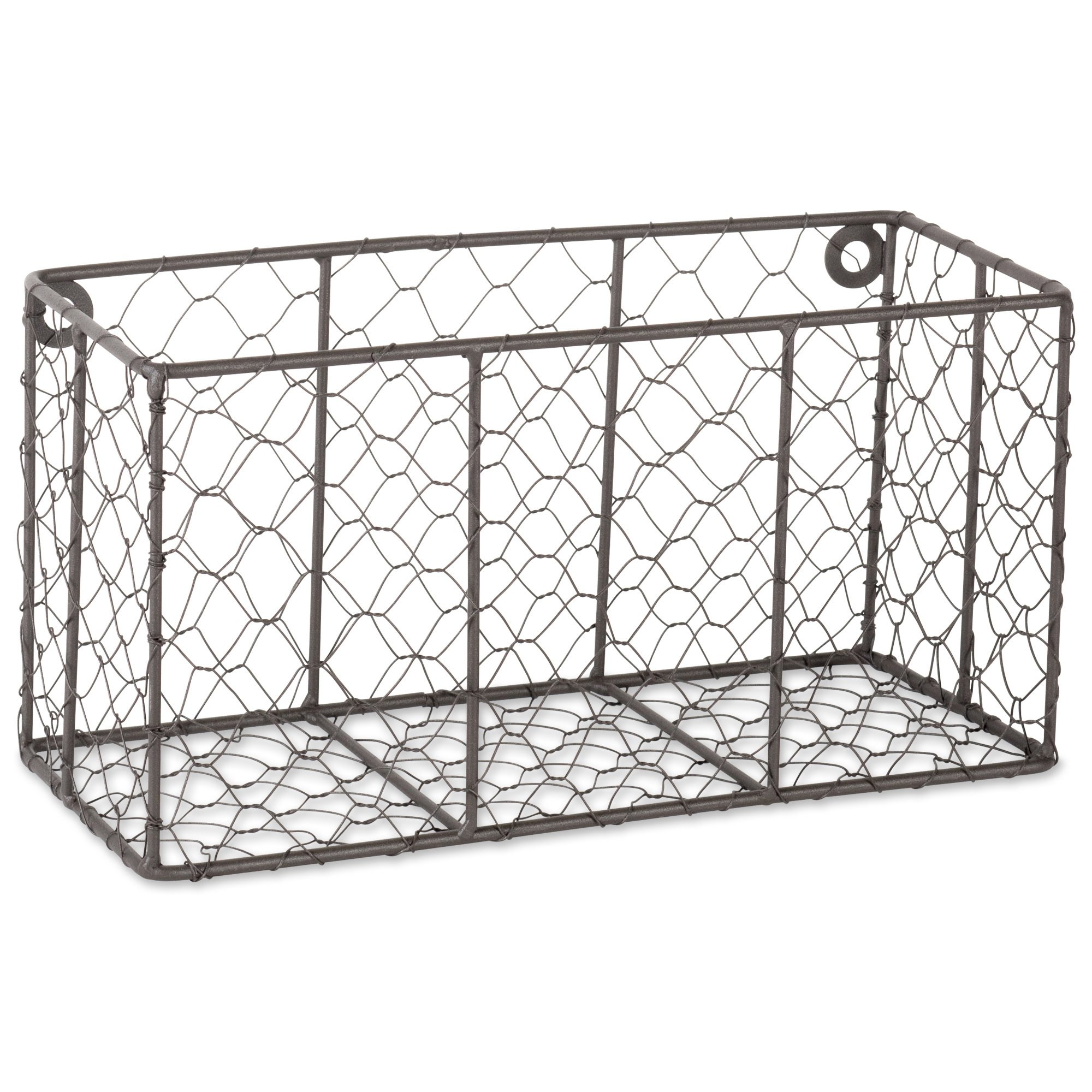 DII Z01929 Rustic Farmhouse Vintage Chicken Wire Wall Basket, Small (Set of 2), Bronze by DII (Image #3)