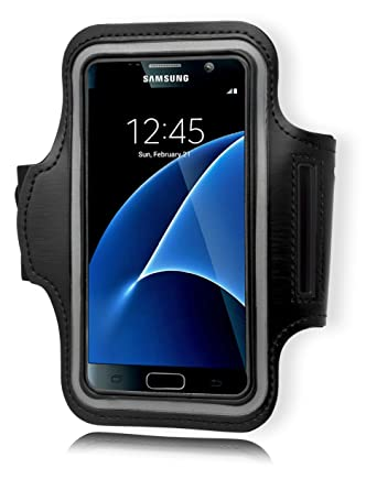 pretty nice 35d6a 172c4 Samsung Galaxy S7 Armband, Bastex Black Runners Armband Case with Key Slot  for Samsung Galaxy S7 G930