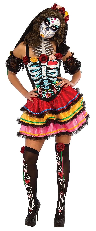 /Medium Rubie s ufficiale donna giorno dei morti Senorita scheletro Halloween costume/