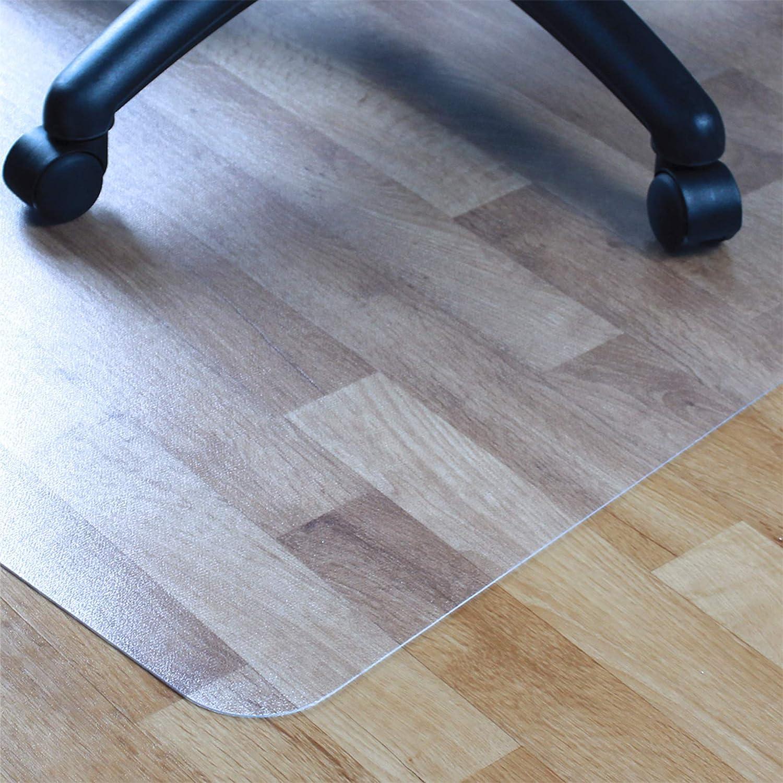 Floortex Cleartex Ultimat Polycarbonate Chair Mat for Hard Floors Carpet Tile, 53 x 48 , Rectangular with Lip, Clear 1213419LR