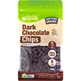 Absolute Organic Dark Vegan Chocolate Chips, 1x350g, Dark 70% cacao