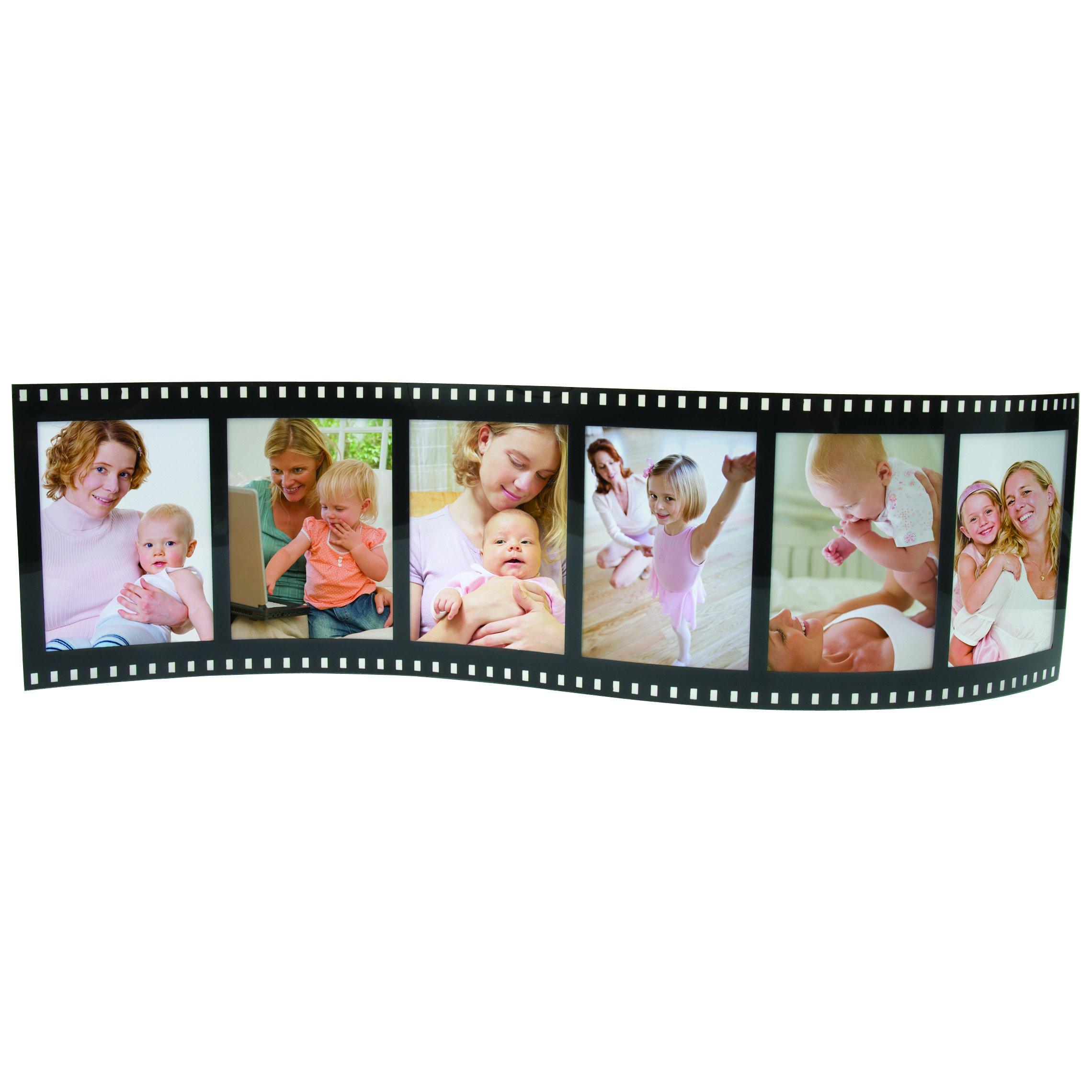 Horizontal Filmstrip Frame Wave Frames - Holds 3 Photos - Pack of 12