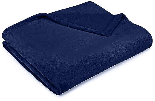 AmazonBasics Plaid en peluche effet velours- Pour le canapé, Bleu ...