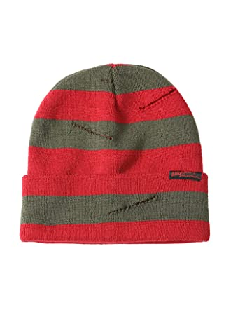 7ba84ffdd1453f A Nightmare On Elm Street Freddy Krueger Slashed Sweater Watchman Beanie at  Amazon Women s Clothing store