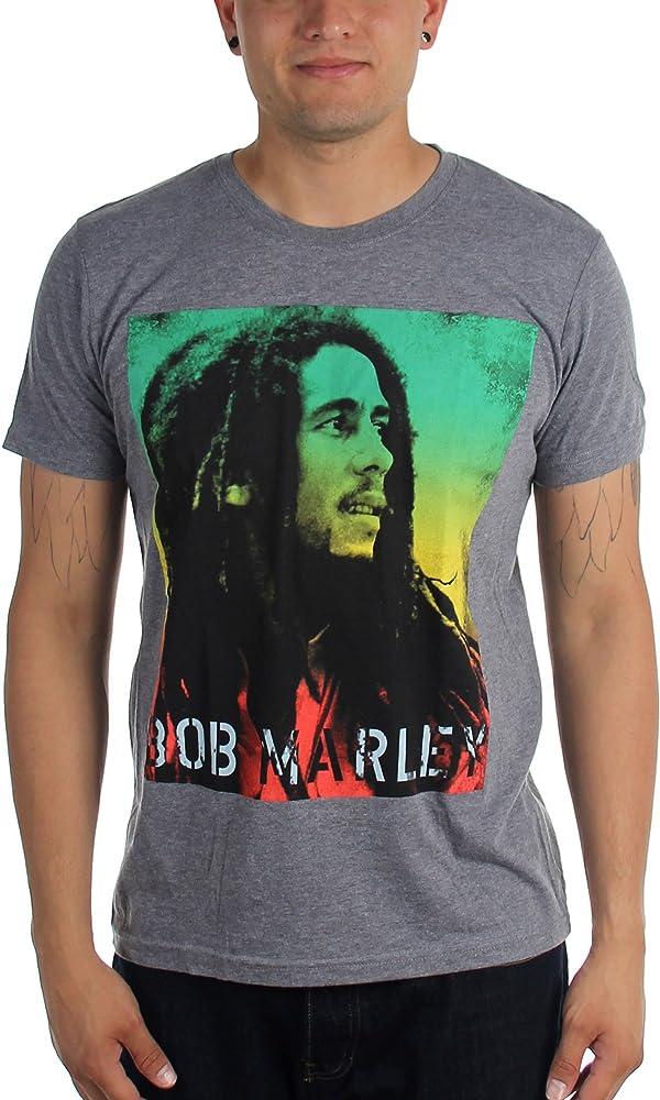 Camiseta para hombre de Bob Marley, de Rasta Gradient Gris gris XX ...