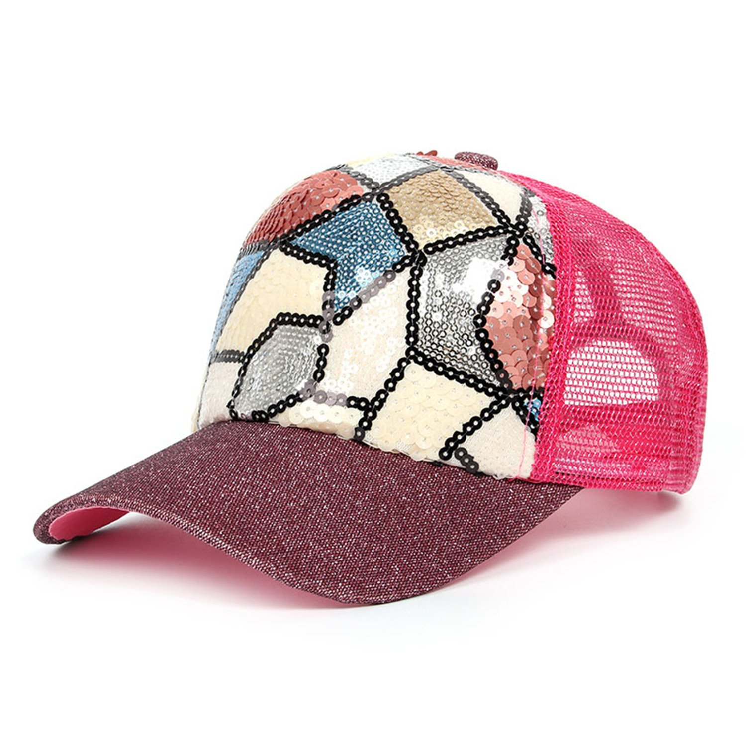 Perfues Women Baseball Cap Women Snapback Cap Sun Breathable Hat As Picture at Amazon Womens Clothing store: