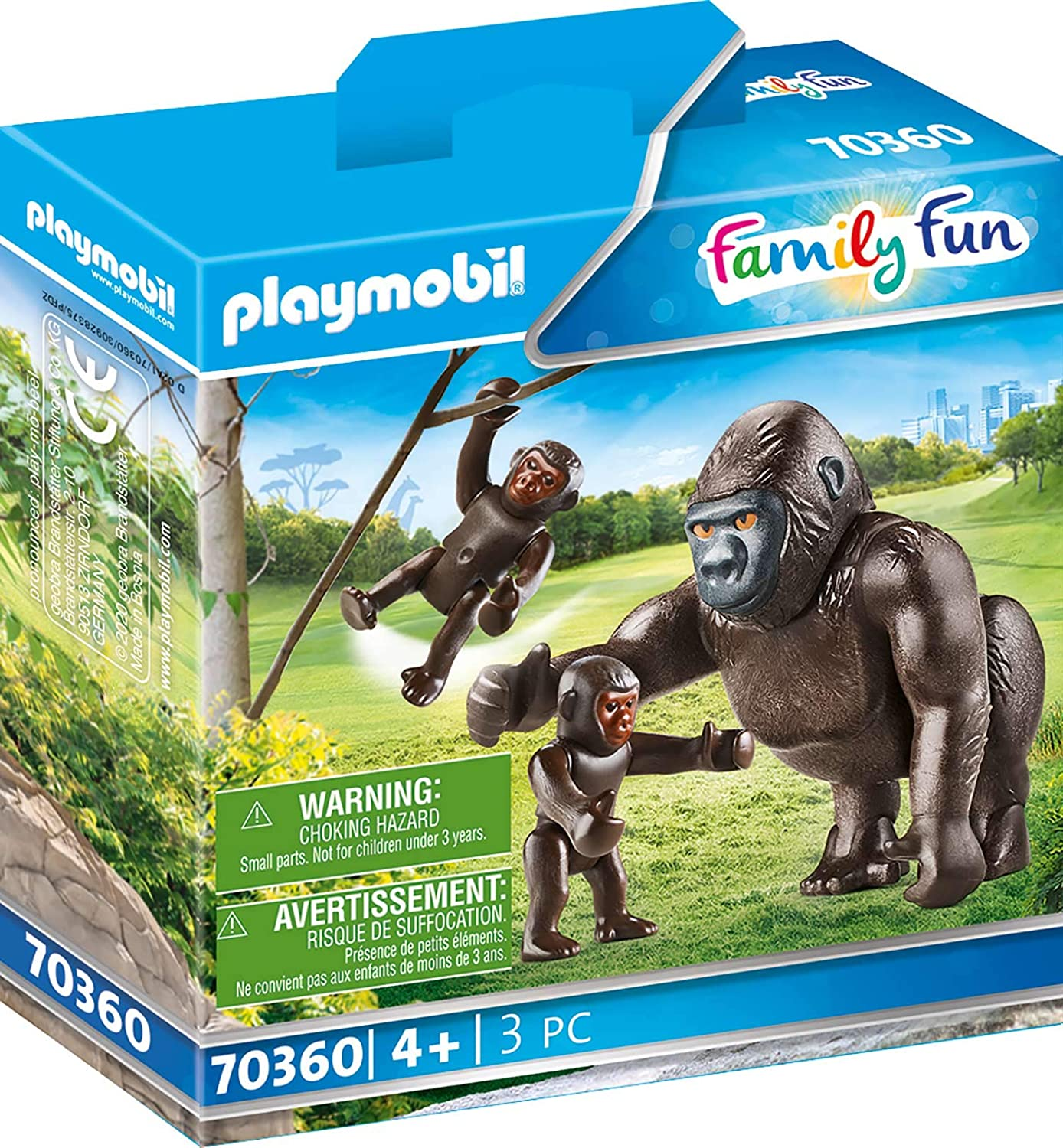 PLAYMOBIL 70360 Gorilla with Babies, 4 Years and Up