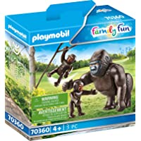Playmobil Gorilla with Babies Colourful,14.2 x 4.1 x 14.2 cm, count of 9
