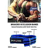 FITAXIS Bandas de oclusion   Occlusion Bands Optimizado para Entrenamiento de restriccion del Flujo sanguineo Crecimiento Muscular rapido sin Levantar Pesas Pesadas.