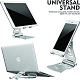 Wayona Adjustable Multi-Angle, Foldable Mobile Stand/Holder Dock Stand for Mobile Cell Phones,Tablets and Laptops (Silver)