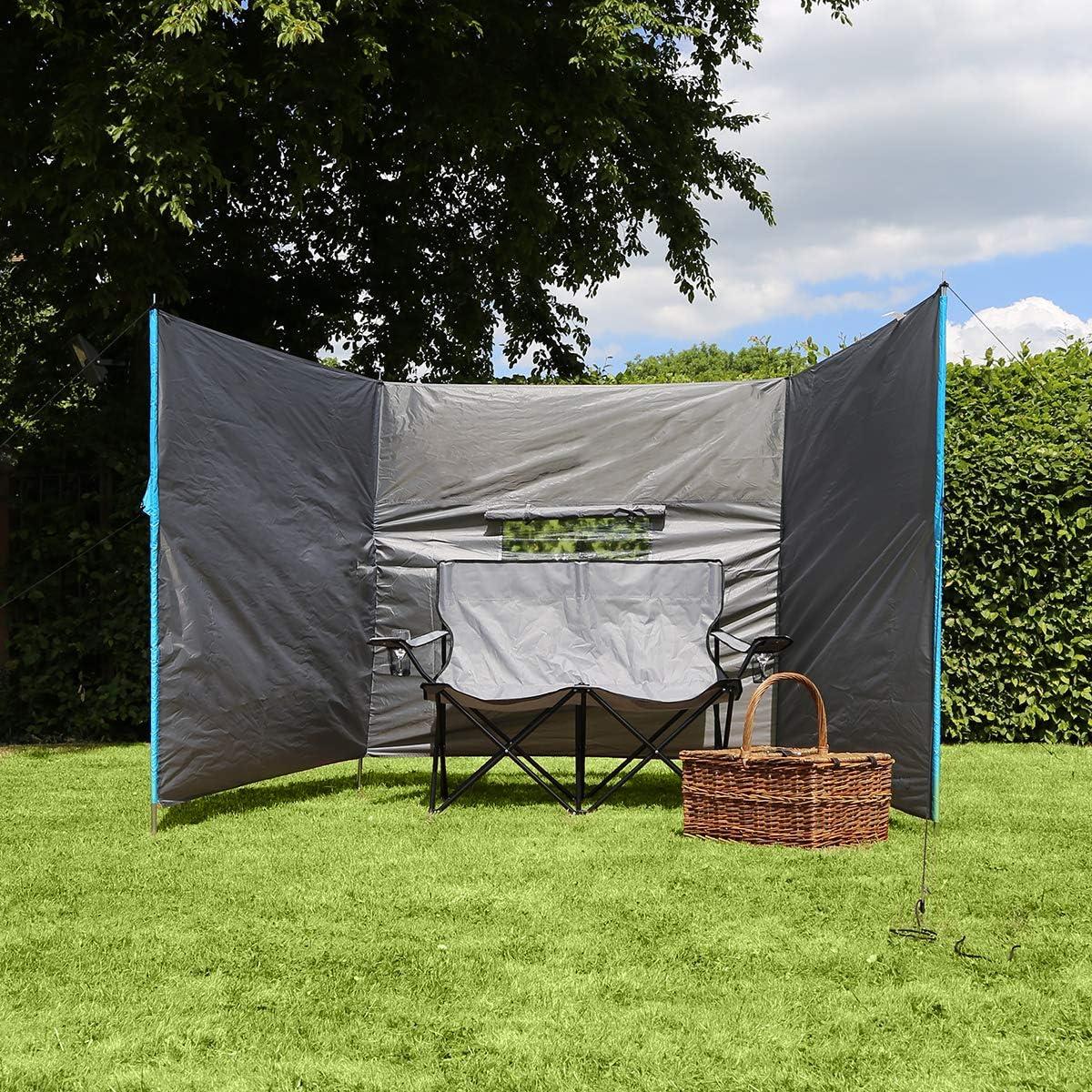Charles Bentley Campeggio Frangivento in grigio fatta di poliestere /& STEEL