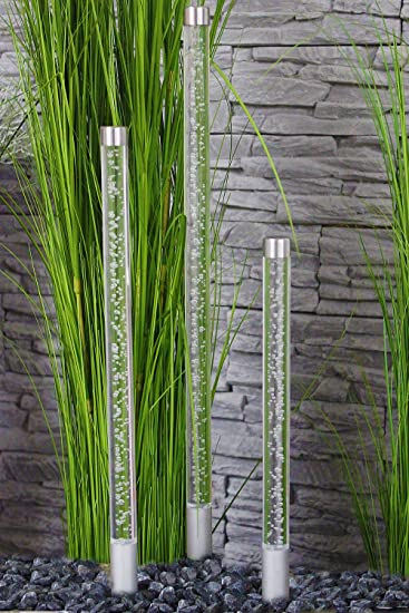 Gartendeko Modern gartenstecker acryl glassäulen 3er set gartendeko modern dekoration