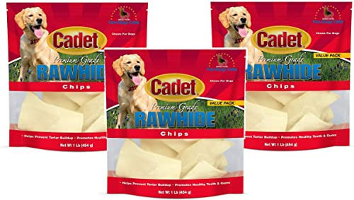 IMS Trading Natural Rawhide Chips for Dogs