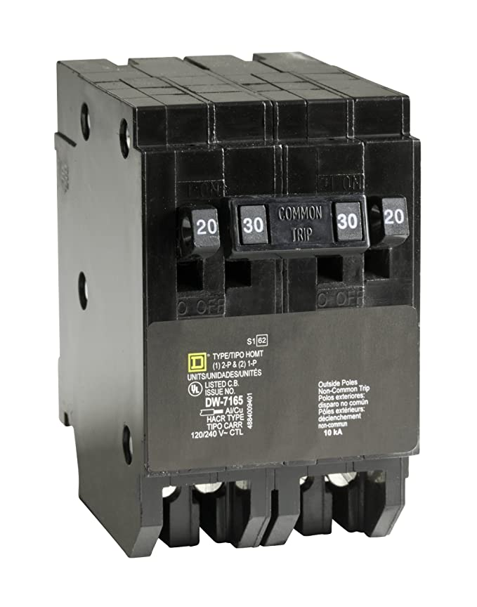 Square D by Schneider Electric HOMT2020230CP Square D Homeline, Double Pole Combination Tandem Circuit Breaker